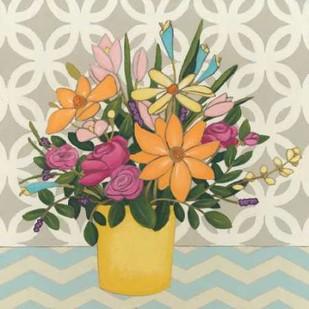 Patterns and Petals II Digital Print by Vess, June Erica,Decorative