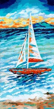Wind In My Sail II Digital Print by Vitaletti, Carolee,Impressionism