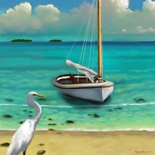 Sailing Serenity IV Digital Print by Novak, Rick,Impressionism