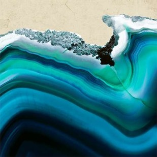 Turquoise Agate B Digital Print by GIArtLab,Abstract