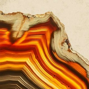 Cadmium Orange Agate B Digital Print by GIArtLab,Abstract