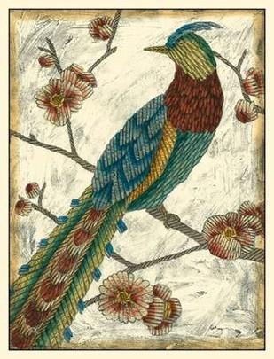 Embroidered Pheasant I Digital Print by Zarris, Chariklia,Decorative