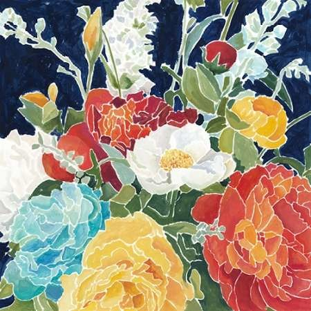 Midnight Florals I Digital Print by Meagher, Megan,Decorative