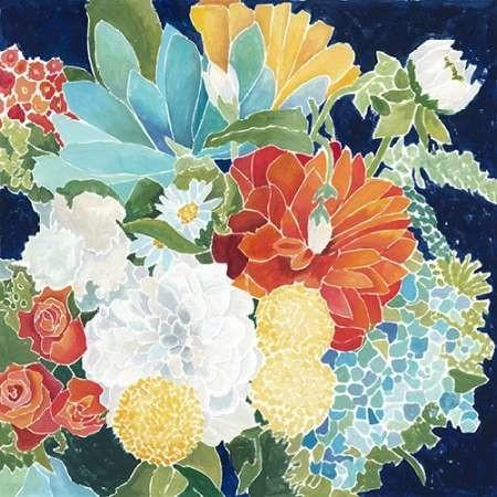 Midnight Florals III Digital Print by Meagher, Megan,Decorative