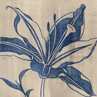 Indigo Lily Digital Print by Zarris, Chariklia,Illustration