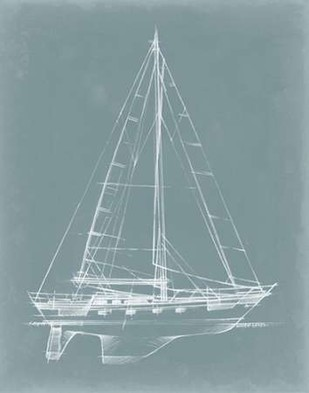 Yacht Sketches II Digital Print by Harper, Ethan,Decorative, Illustration