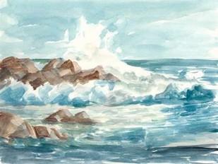 Coastal Watercolor I Digital Print by Harper, Ethan,Impressionism