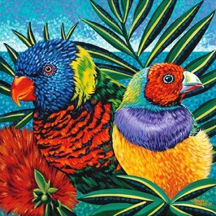 Birds in Paradise II Digital Print by Vitaletti, Carolee,Realism