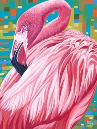 Fabulous Flamingos II Digital Print by Vitaletti, Carolee,Realism