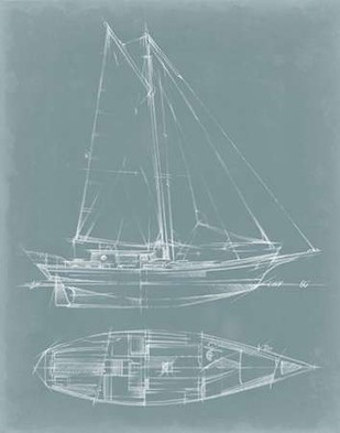 Yacht Sketches III Digital Print by Harper, Ethan,Decorative