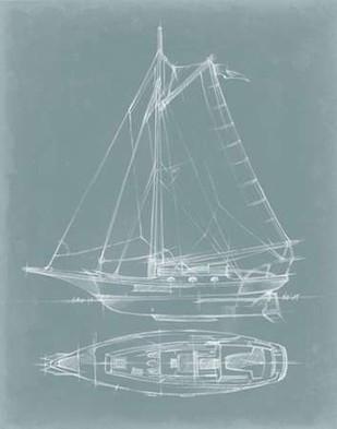 Yacht Sketches IV Digital Print by Harper, Ethan,Decorative