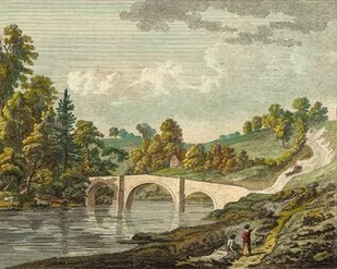 Bridge near Clerk Castle Digital Print by Sandby, P.,Impressionism