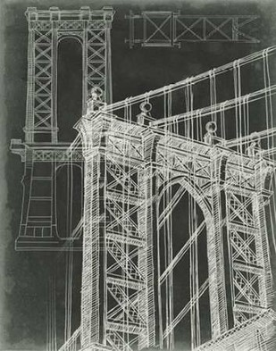 Iconic Blueprint I Digital Print by Harper, Ethan,Illustration