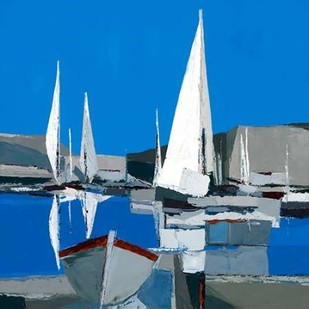 Voiles Blanches I Digital Print by Demagny,Impressionism