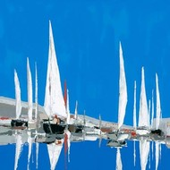 Voiles Blanches II Digital Print by Demagny,Impressionism