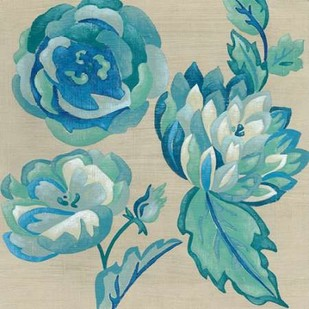 Turquoise Chintz II Digital Print by Zarris, Chariklia,Decorative