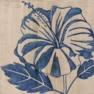 Indigo Hibiscus Digital Print by Zarris, Chariklia,Decorative