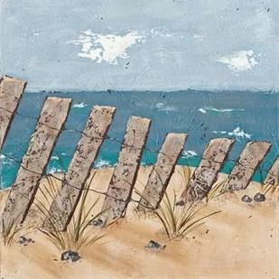 Beach Scene Triptych II Digital Print by Reynolds, Jade,Impressionism