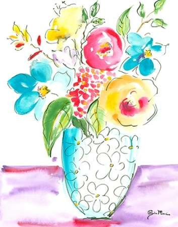 Flower Burst Vase I Digital Print by Minasian, Julia,Impressionism