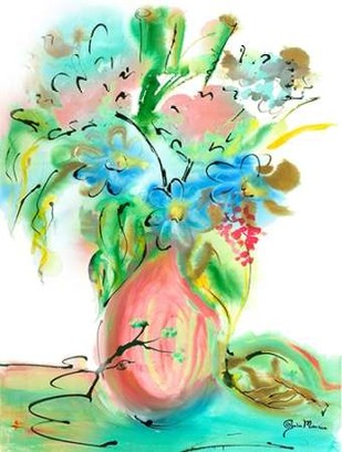Flower Burst Vase II Digital Print by Minasian, Julia,Decorative