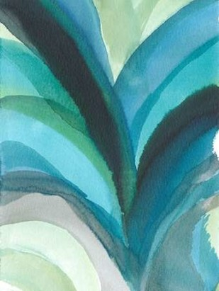 Big Blue Leaf I Digital Print by Fuchs, Jodi,Abstract