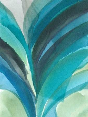 Big Blue Leaf II Digital Print by Fuchs, Jodi,Abstract
