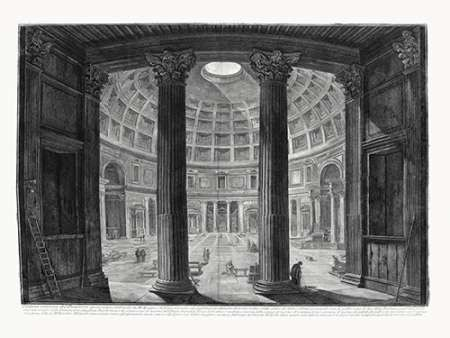 Veduta interna del Pantheon Digital Print by Piranesi,Illustration