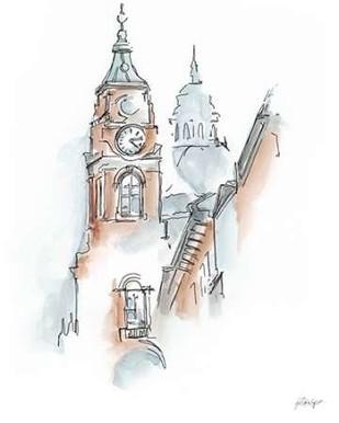 European Watercolor Sketches I Digital Print by Harper, Ethan,Minimalism
