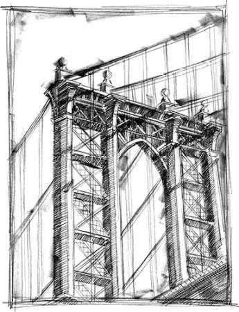 Graphic Architectural Study IV Digital Print by Harper, Ethan,Illustration