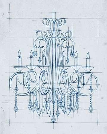 Chandelier Draft II Digital Print by Harper, Ethan,Illustration