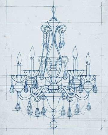 Chandelier Draft III Digital Print by Harper, Ethan,Illustration