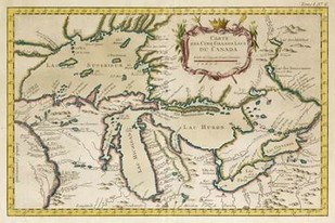 Map of the Great Lakes Digital Print by Unknown,Decorative