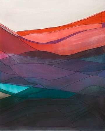 Red Hills II Digital Print by Fuchs, Jodi,Impressionism
