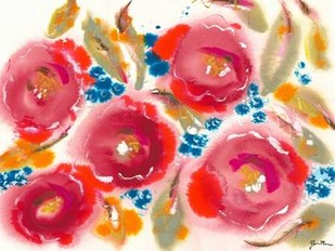 Bed of Roses III Digital Print by Minasian, Julia,Impressionism