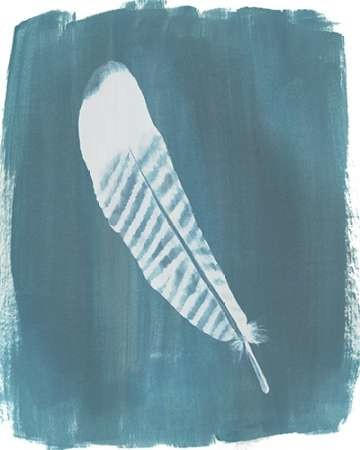 Feathers on Dusty Teal VI Digital Print by Popp, Grace,Minimalism