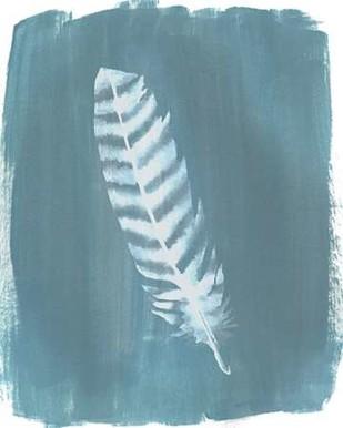 Feathers on Dusty Teal VIII Digital Print by Popp, Grace,Minimalism