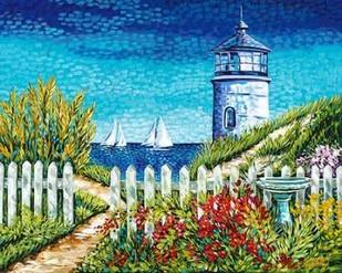 Lighthouse Retreat I Digital Print by Vitaletti, Carolee,Impressionism