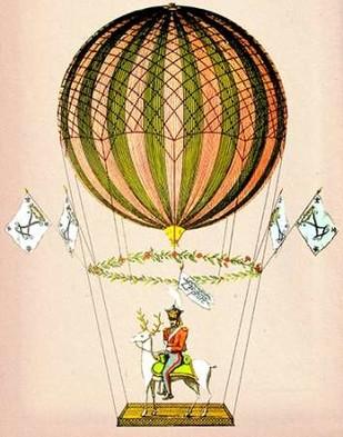 Hot Air Balloon Zephire Digital Print by Fab Funky,Decorative