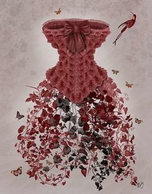 Woodland Corset Digital Print by Fab Funky,Decorative
