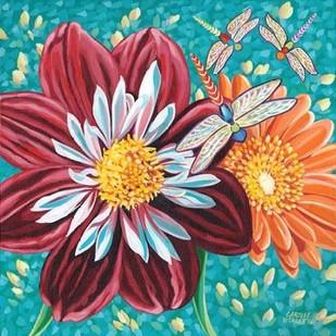 Dragonfly on Blooms I Digital Print by Vitaletti, Carolee,Decorative