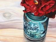 Ball Jar Flower III Digital Print by Redstreake,