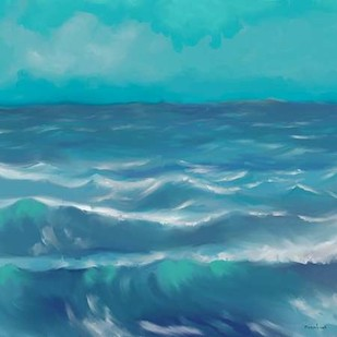 Ocean Waves I Digital Print by Novak, Rick,Impressionism
