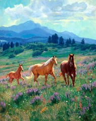 Wild in Bloom Digital Print by Goldrick, Claire,Impressionism