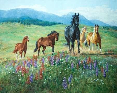 Wildflower Trail Digital Print by Goldrick, Claire,Impressionism
