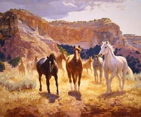 Canyon Trails Digital Print by Goldrick, Claire,Impressionism