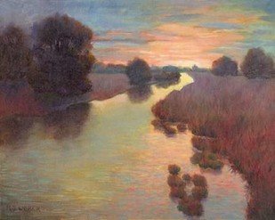 Evening Wetlands Digital Print by Weber, Mary Jean,Impressionism
