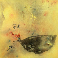 Untitled 1142 by Arvind V Patel, Minimalism Painting, Acrylic on Canvas, Beige color