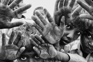 Untitled by Subhajit Dutta, Image Photography, Digital Print on Canvas, Gray color