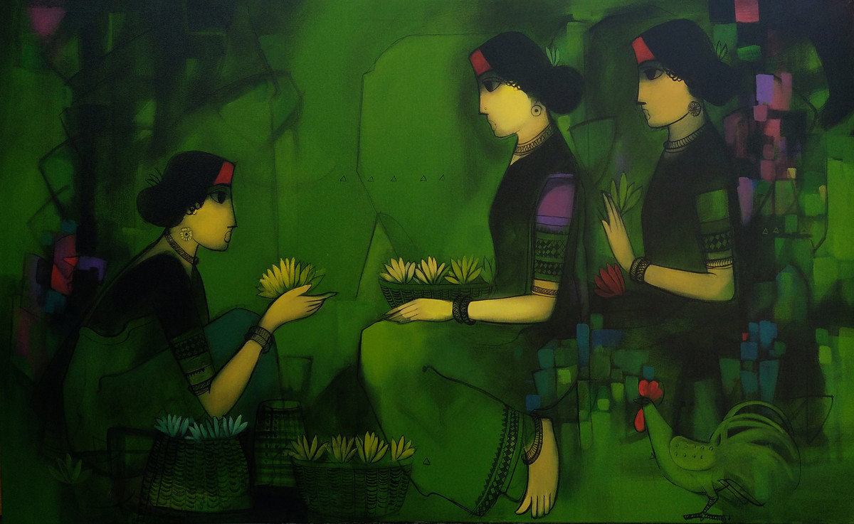 Untitled Digital Print by Sachin Sagare,Traditional
