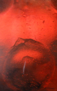 Kinectic Dimension - VI by Ashok Gulati, Abstract Painting, Mixed Media on Canvas, Red color